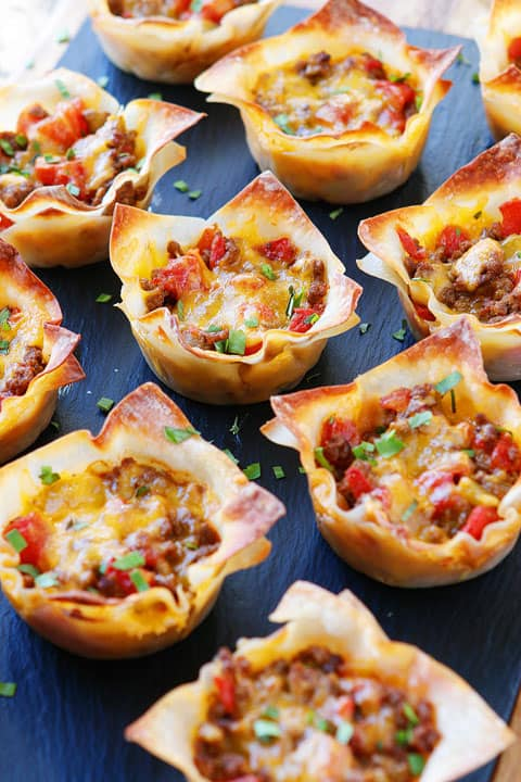 Superbowl Snack Ideas - Crunchy Taco Bites