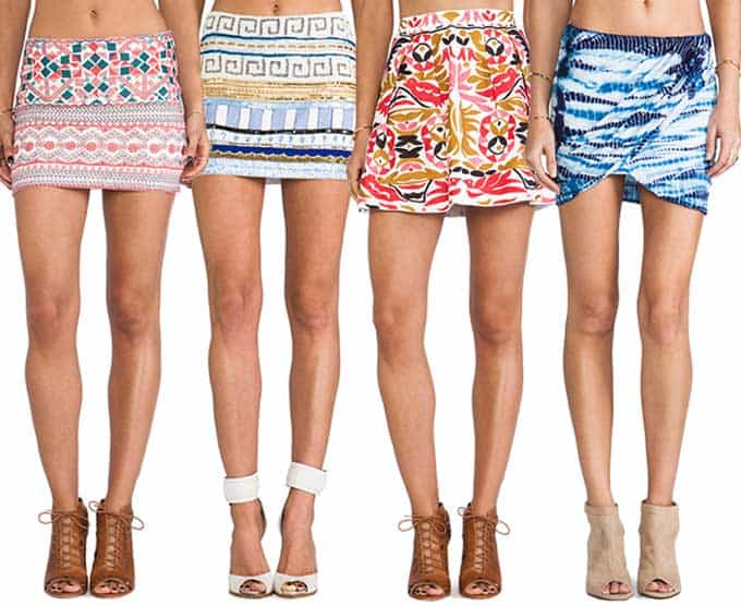 Colorful Mini Skirts  Blue Mountain Belle