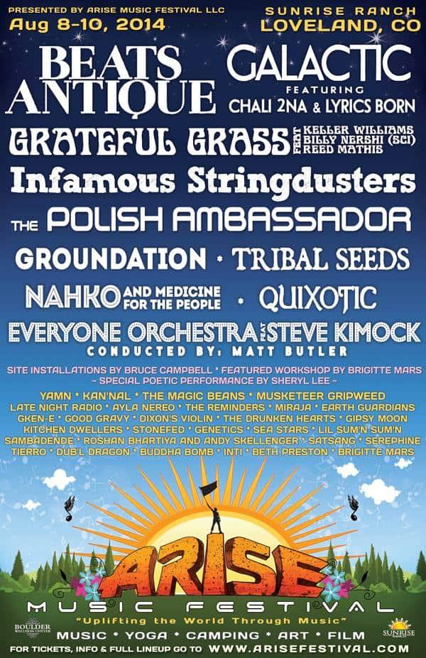 Arise Music Festival Line Up