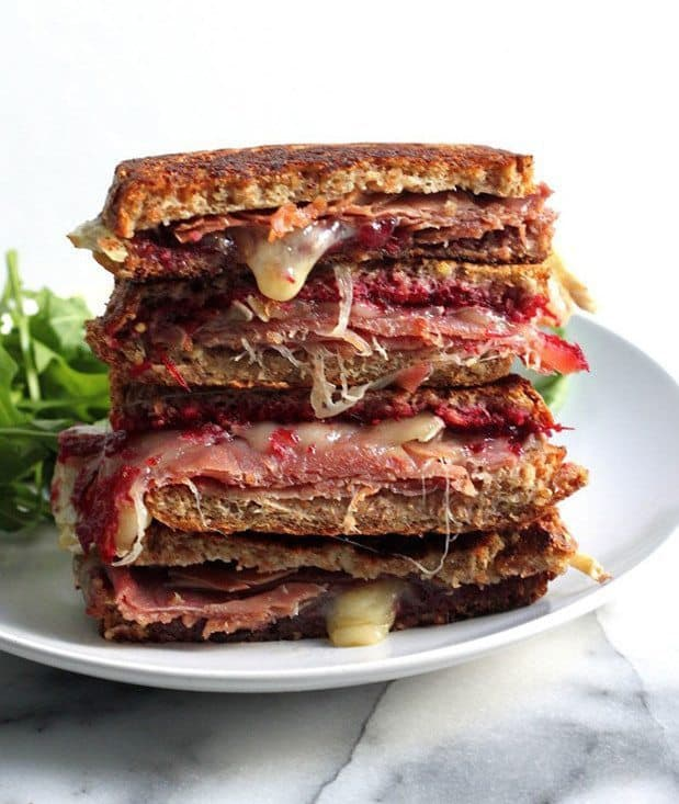 Cranberry, Brie & Prosciutto Grilled Cheese |Blue Mountain Belle