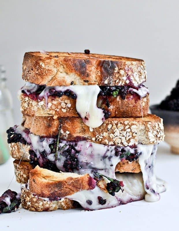 grilled fontina + blackberry basil smash sandwiches |Blue Mountain Belle