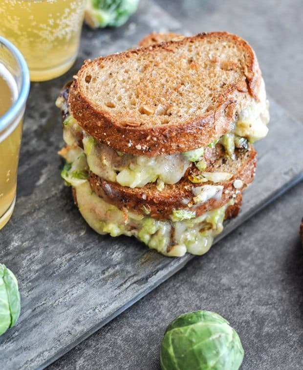 balsamic brussels sprouts grilled cheese | Blue Mountain Belle