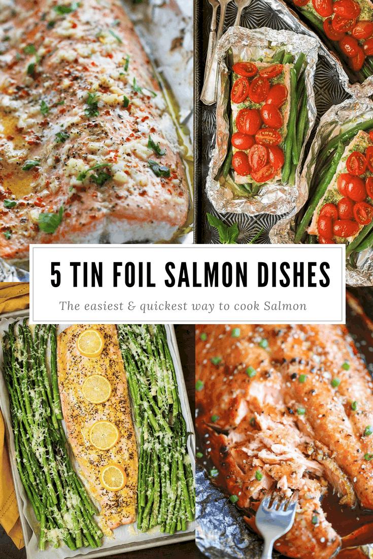 5 Tin Foil Salmon Dishes