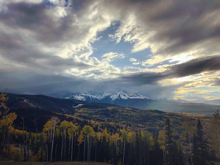 Telluride in the Fall - view from gondola
