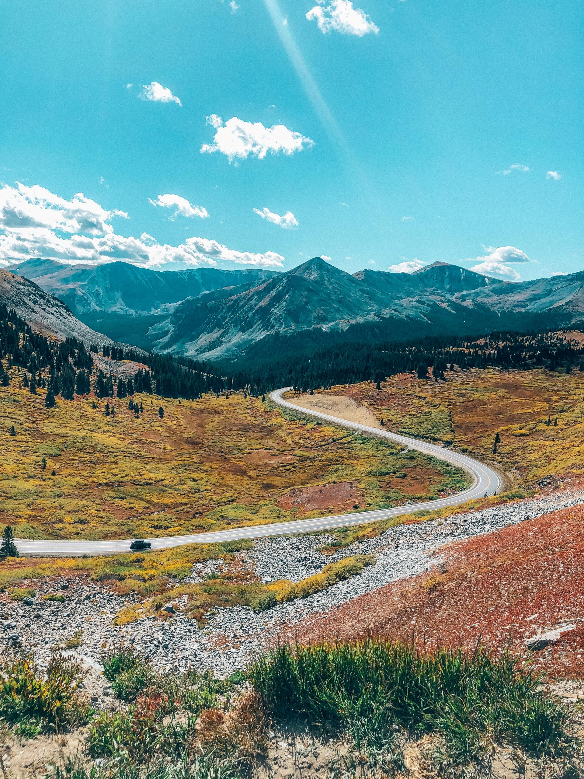 Fall on Cottonwood Pass - view from the Continental Divide
