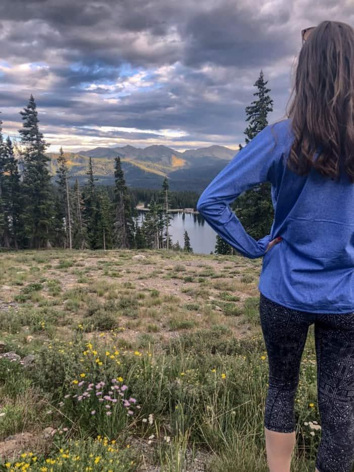 Amazon Joe's USA Pullover with prAna leggings   Blue Mountain Belle