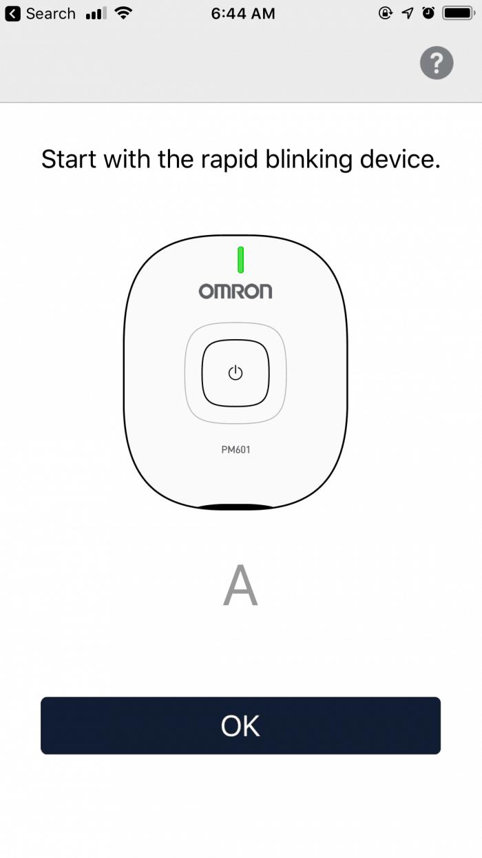 Omron TENS app