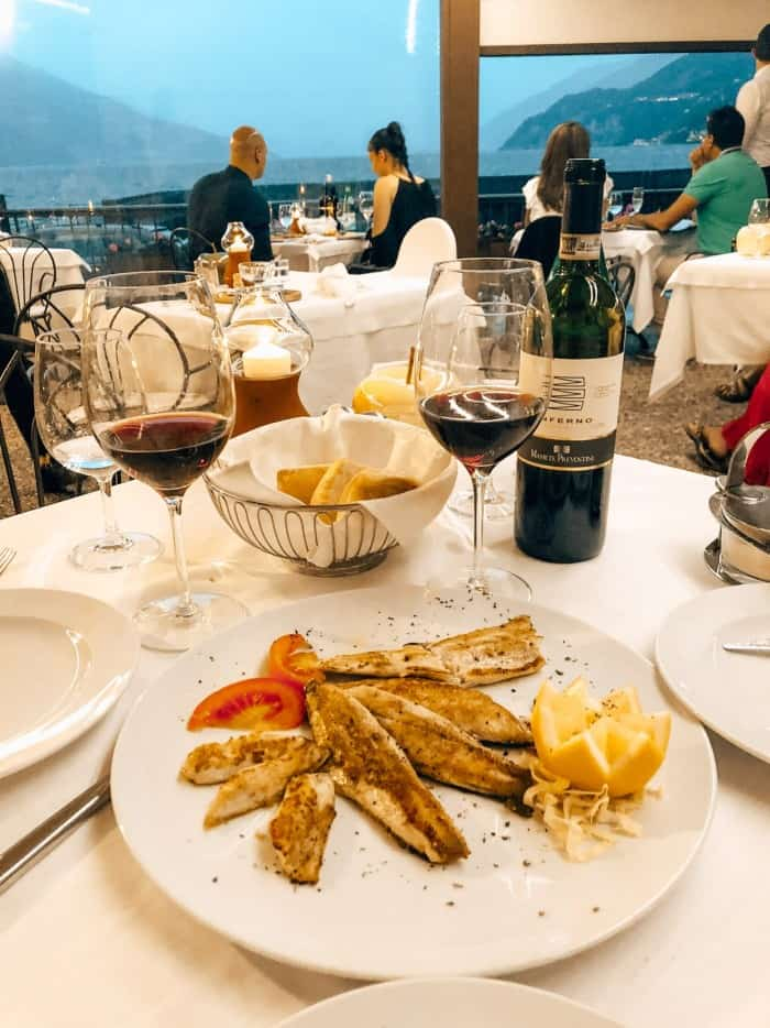 Dinner at La Punta in Bellagio, Italy - Blue Mountain Belle Bellagio Guide
