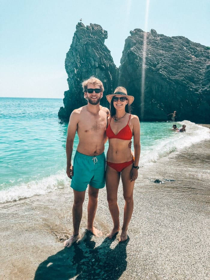 Cinque Terra beach Perfect day with Blue Mountain Belle