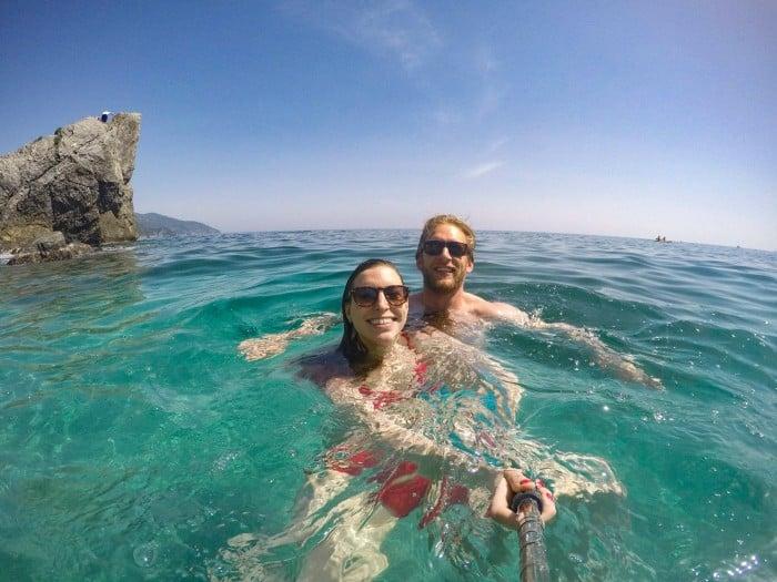 Cinque Terra Monterosso Al Mare beach Perfect day with Blue Mountain Belle