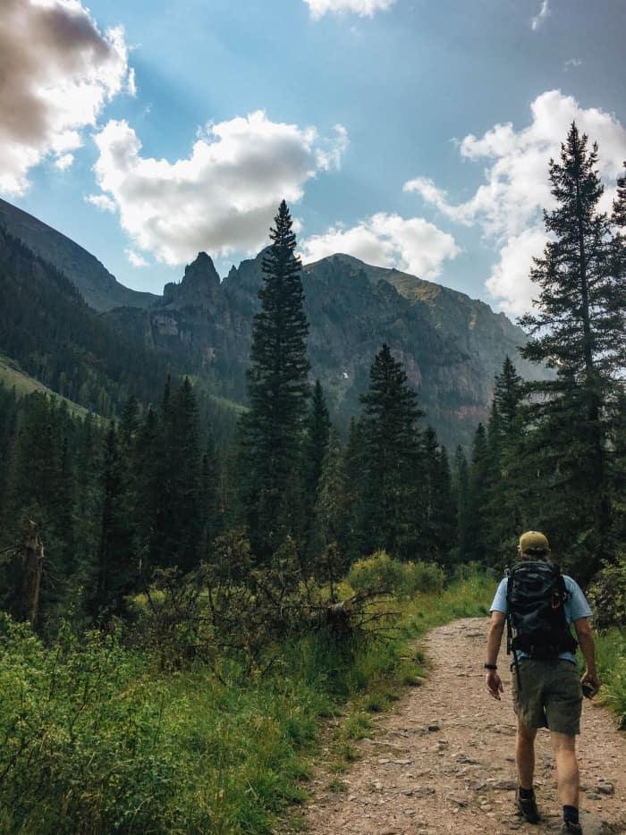 HIking Bear Creek Trail in Telluride, Colorado