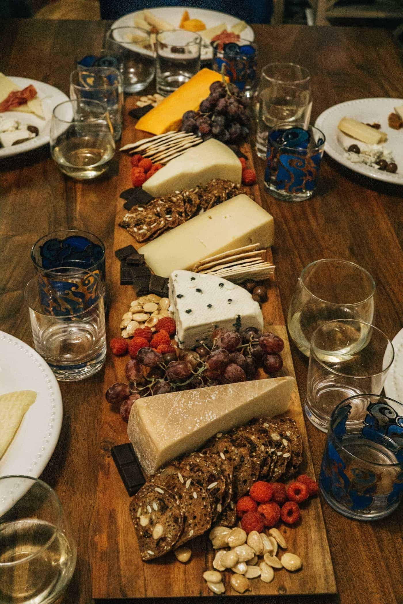 Channing and the cheese plate