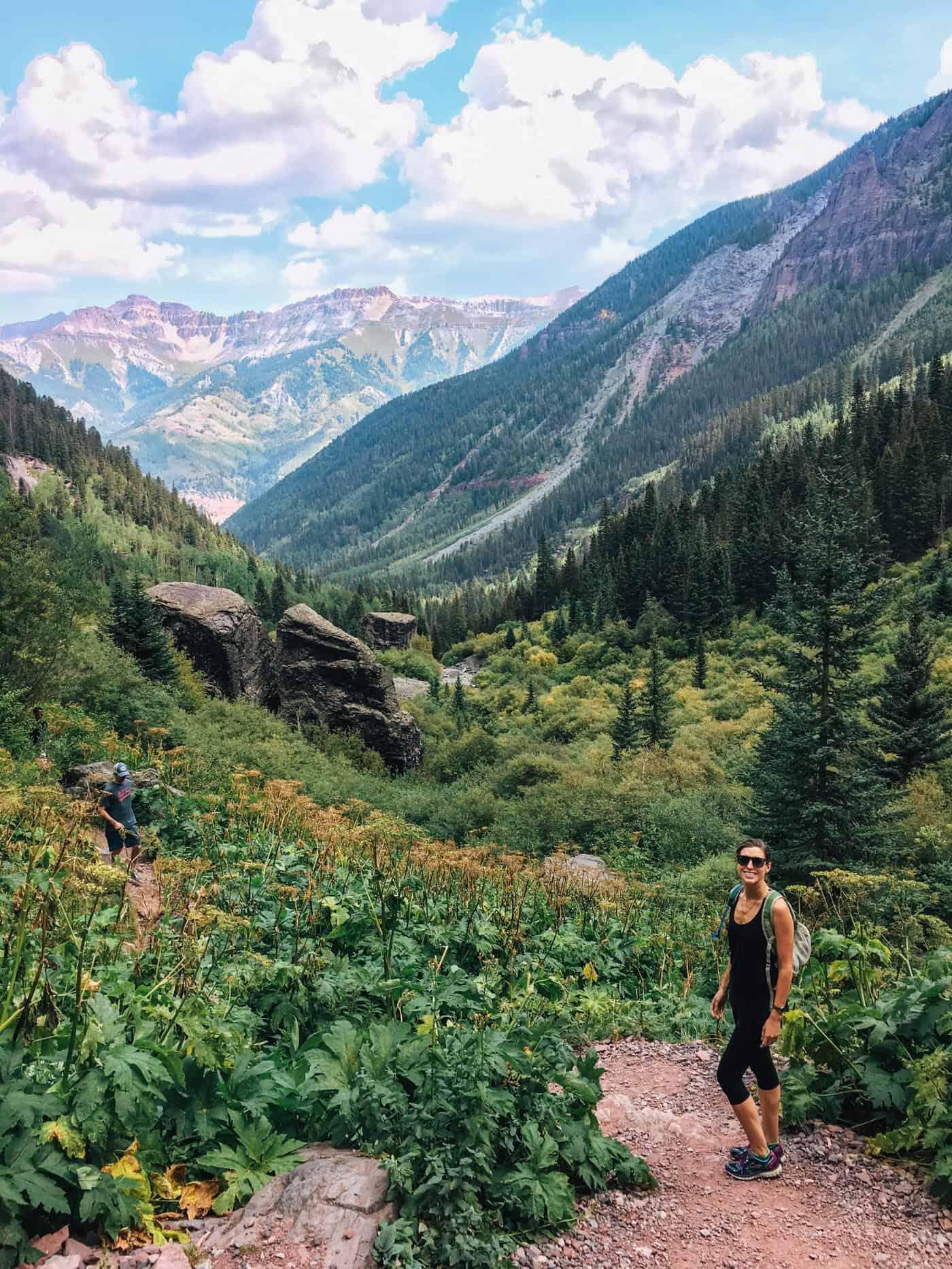 Hiking Bear Creek Trail in Telluride