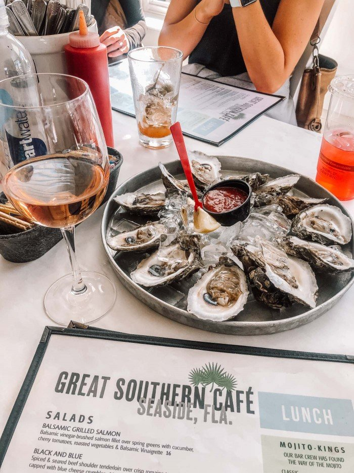 Oysters at The Great Southern in Seaside, Fl