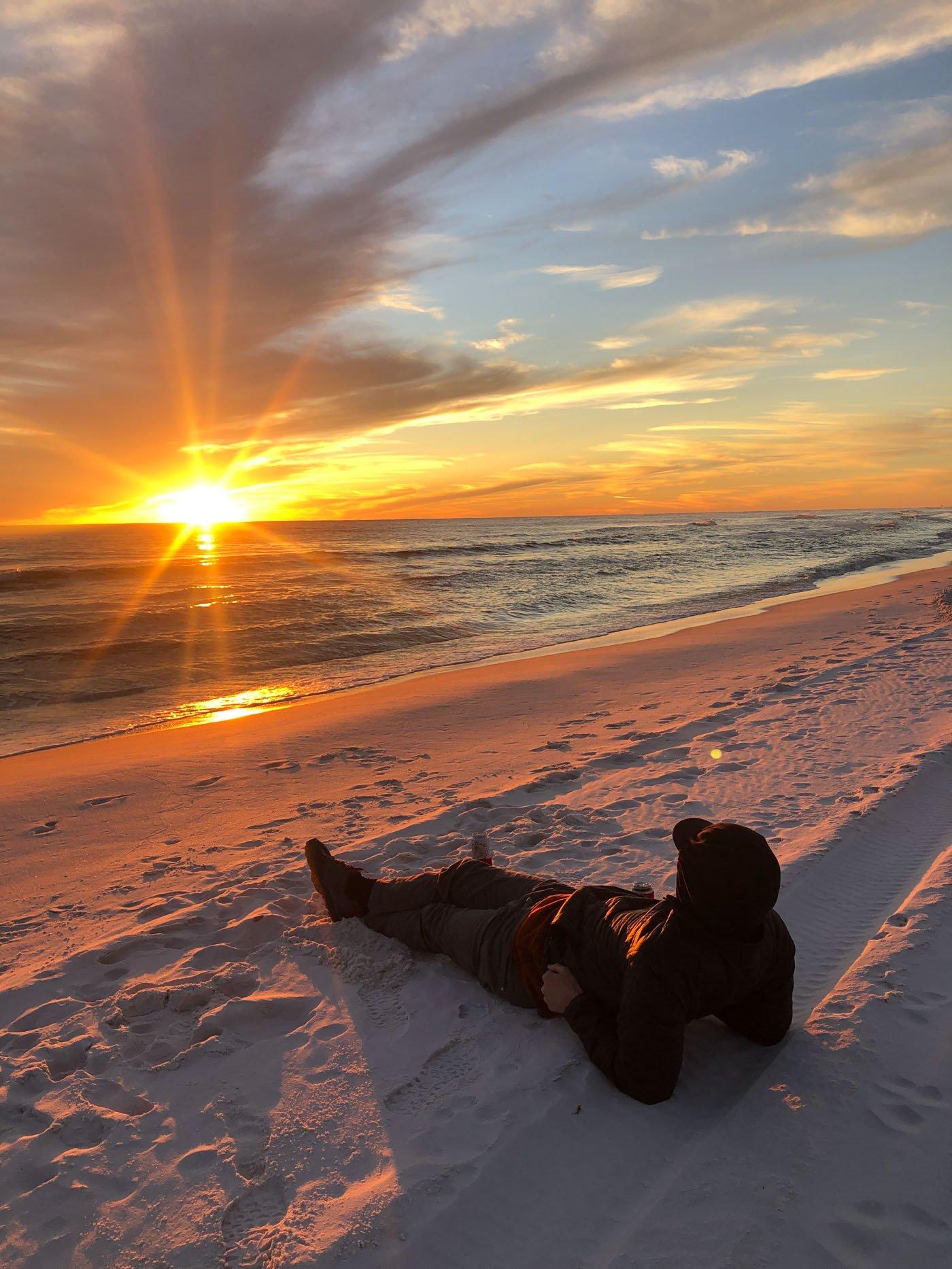 grayton beach winter sunset