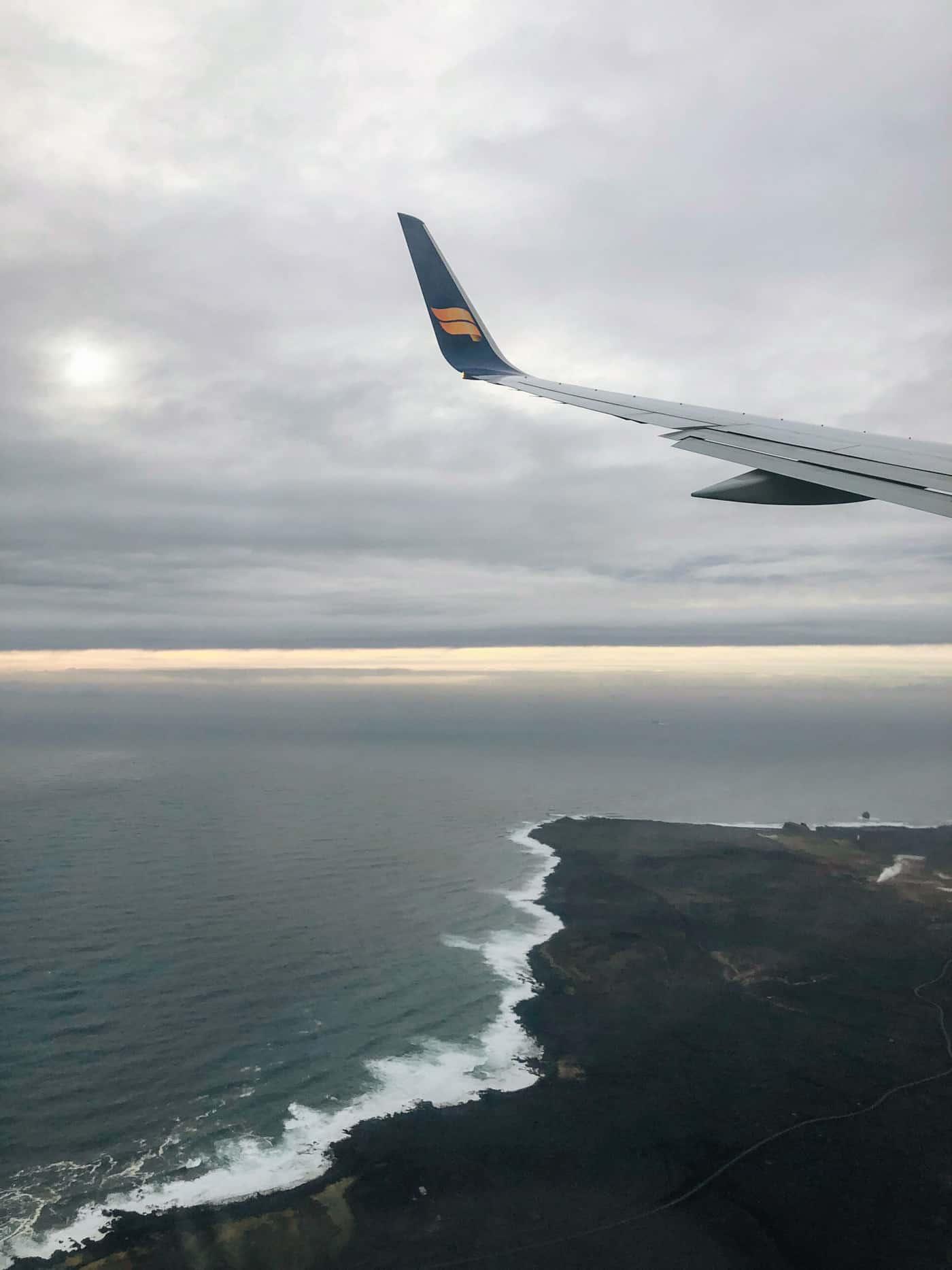 Flying into Reykjavik
