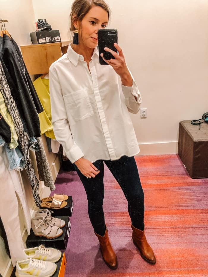 French Connection Oxford Boyfriend Shirt from Evereve