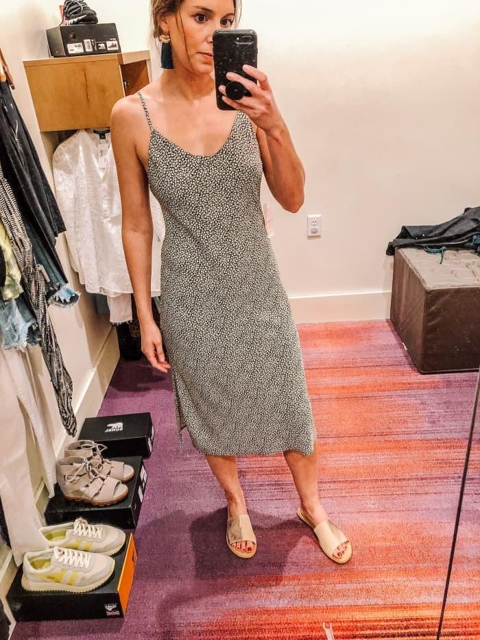 Allison Joy Piper Black & White Mid Length Dress from Evereve