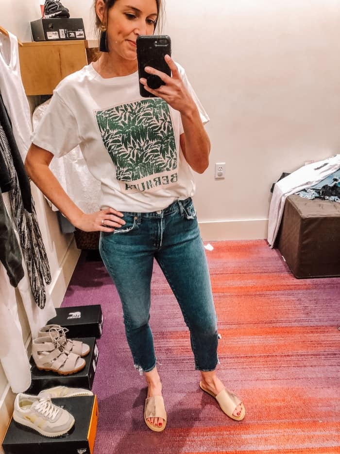 AGOLDE Toni Straight Ankle jeans with Bermuda Tee from Evereve