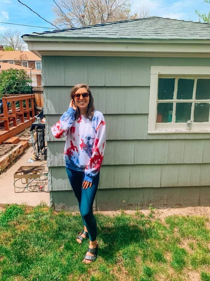 Blue Mountain Belle Backyard Tie-Dye Sweatshirt
