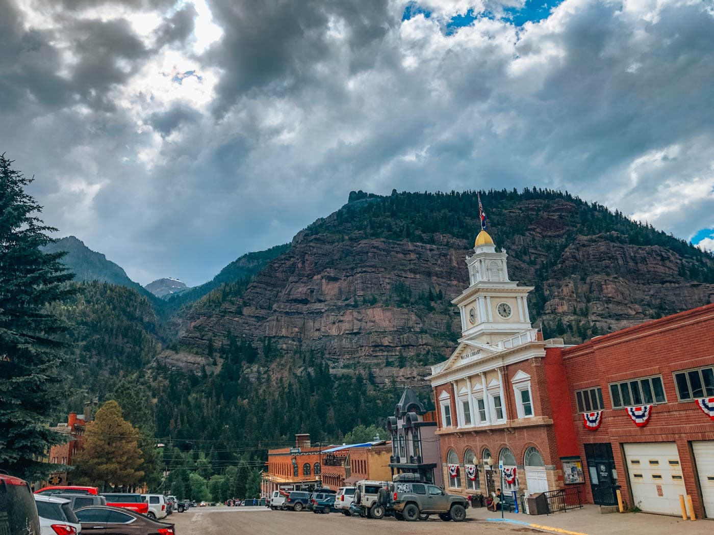 view of the town of ouray, colorado