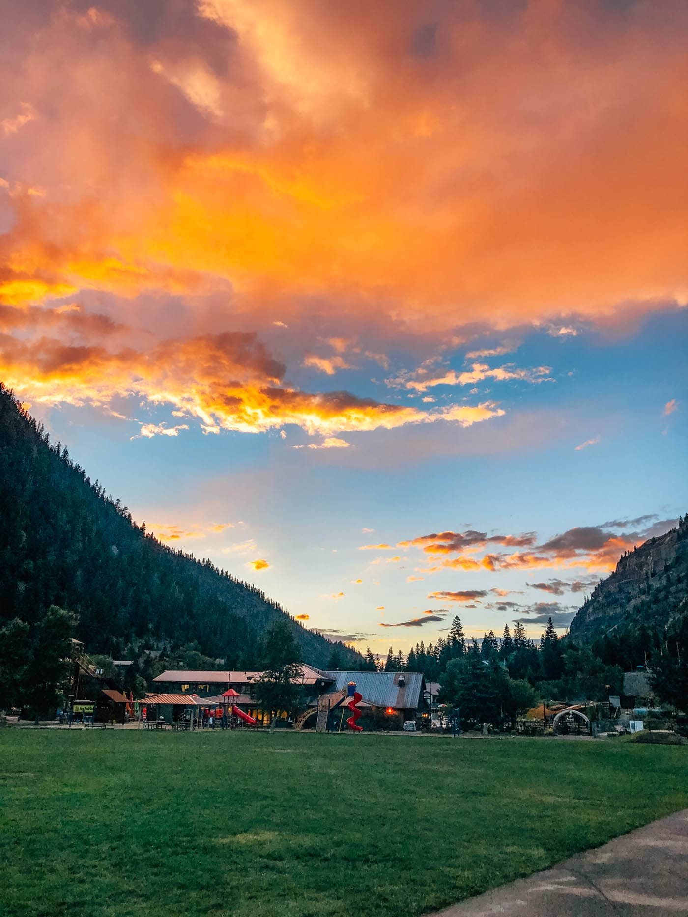 Sunset at Town Park in Ouray, Colorado