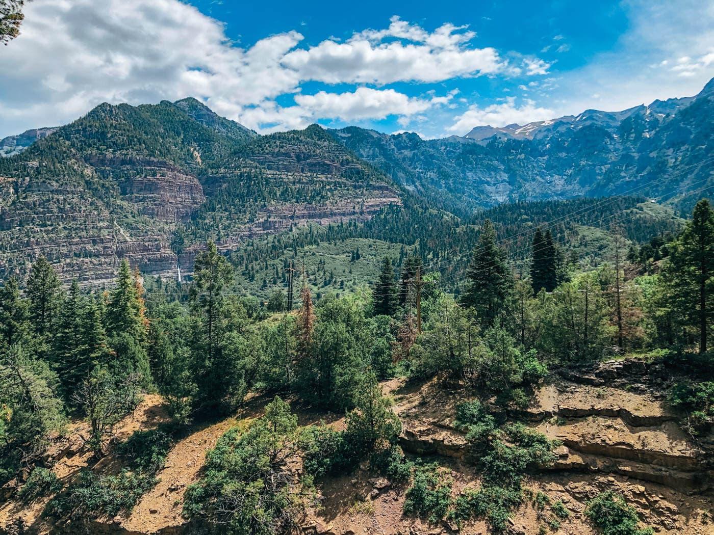 Views of the mountains around Ouray Colorado