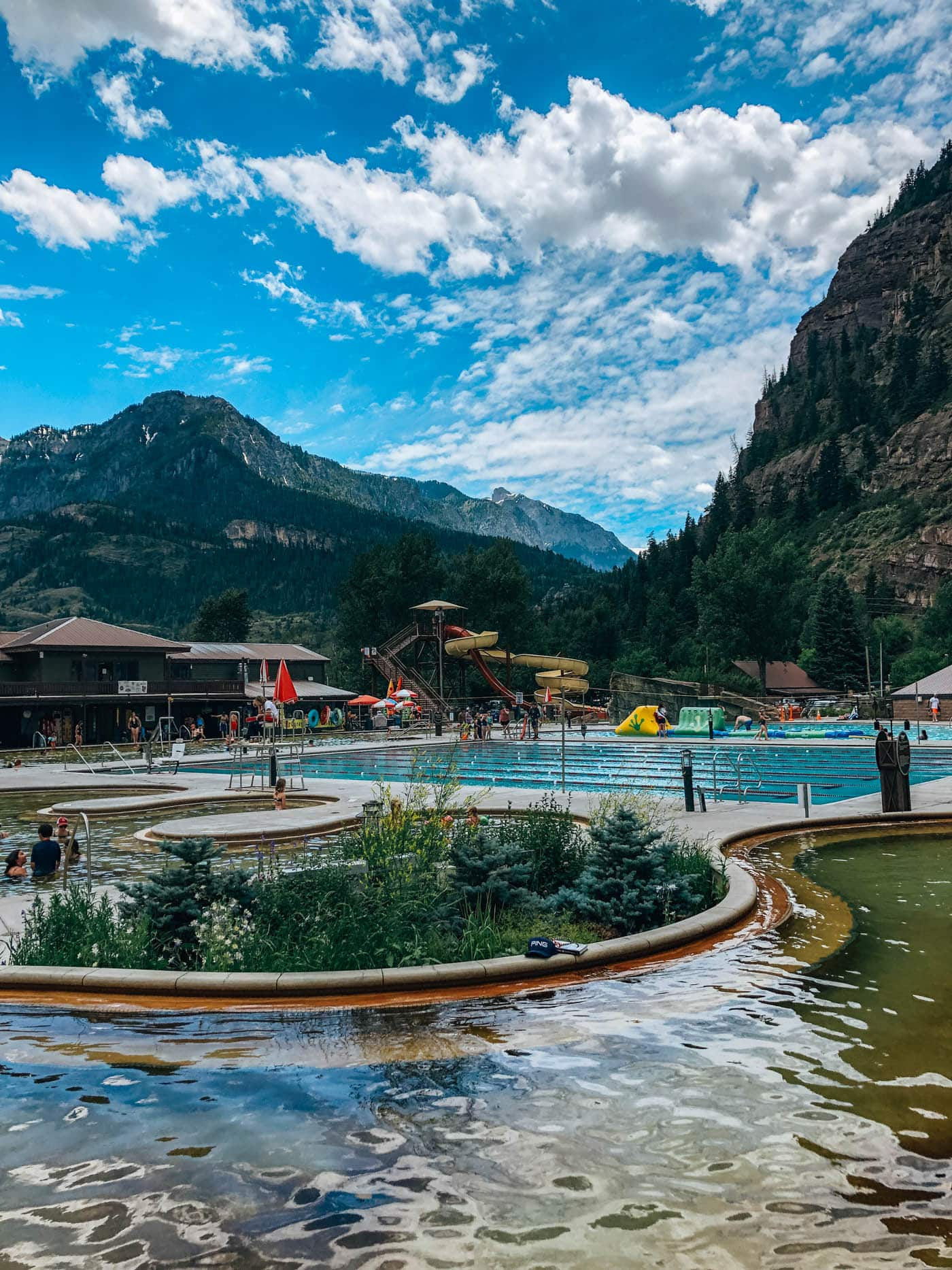 Ouray Hot Springs view from adult pools