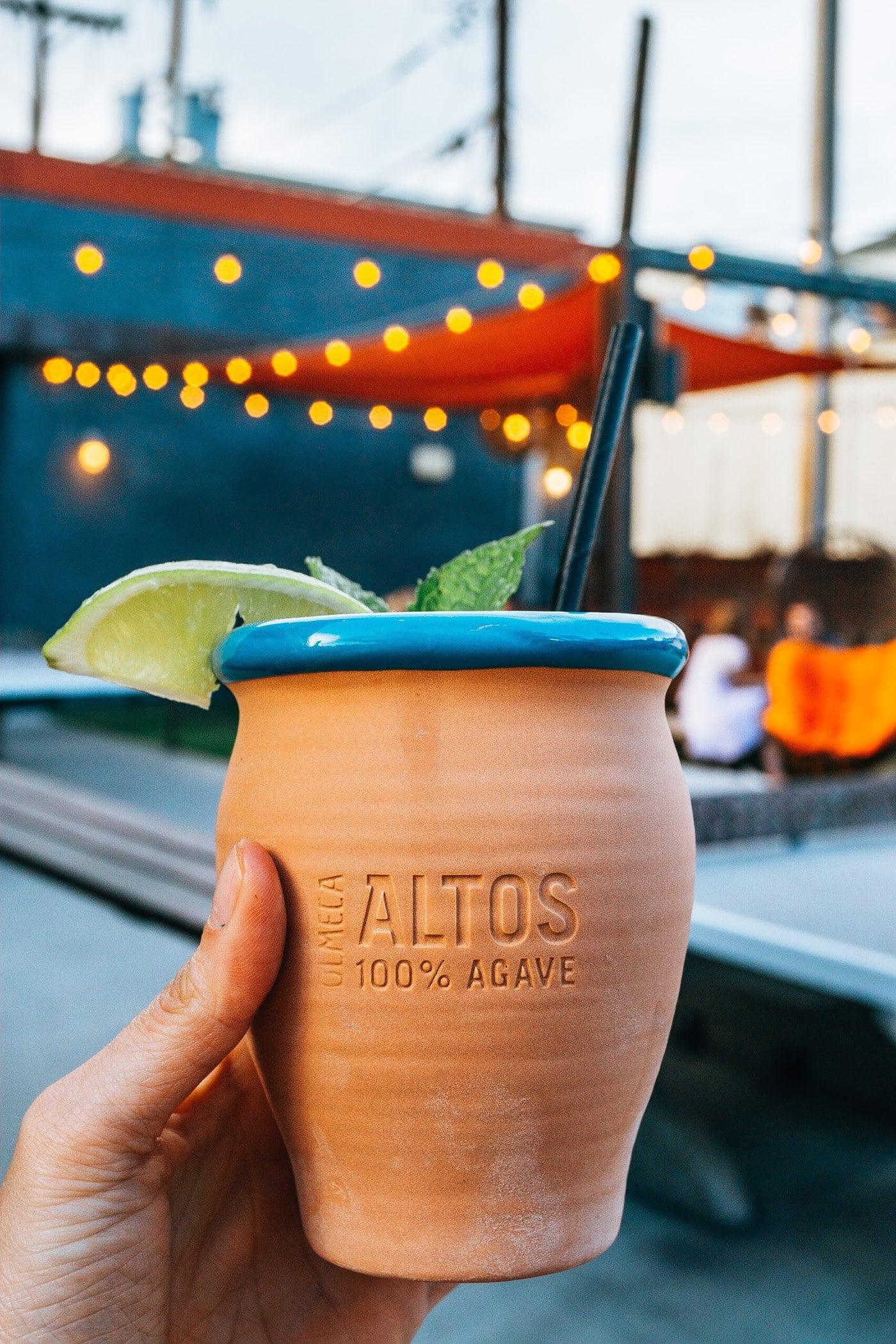 Drink on Patio at Ace Eat Serve Denver