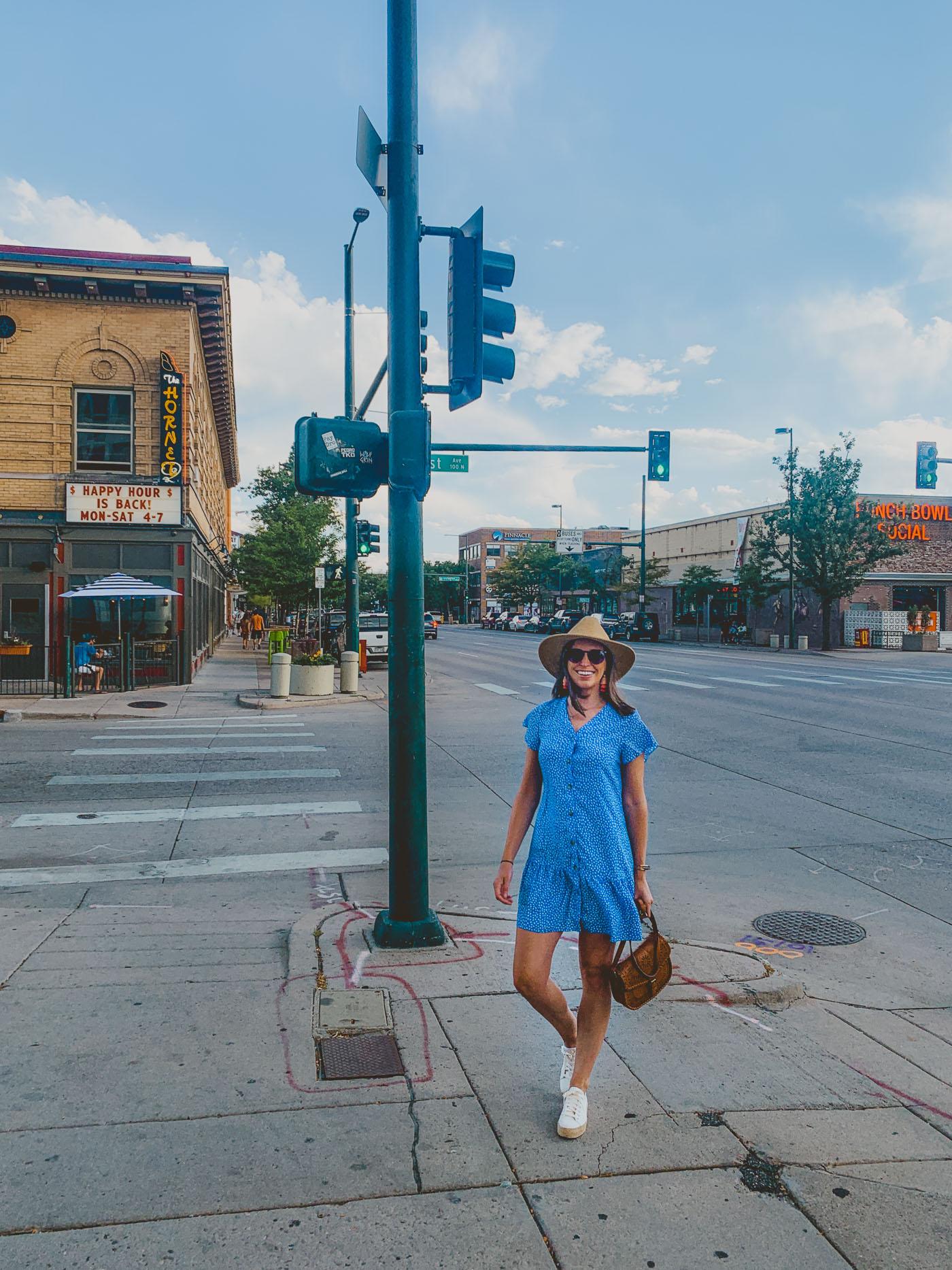 #amazonfind Blue Polka Dot Dress
