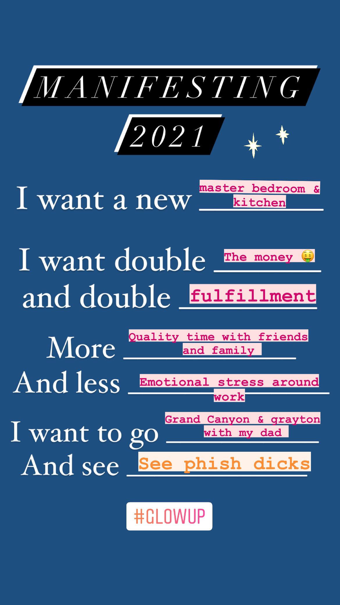 Manifesting #2021 Glow Up