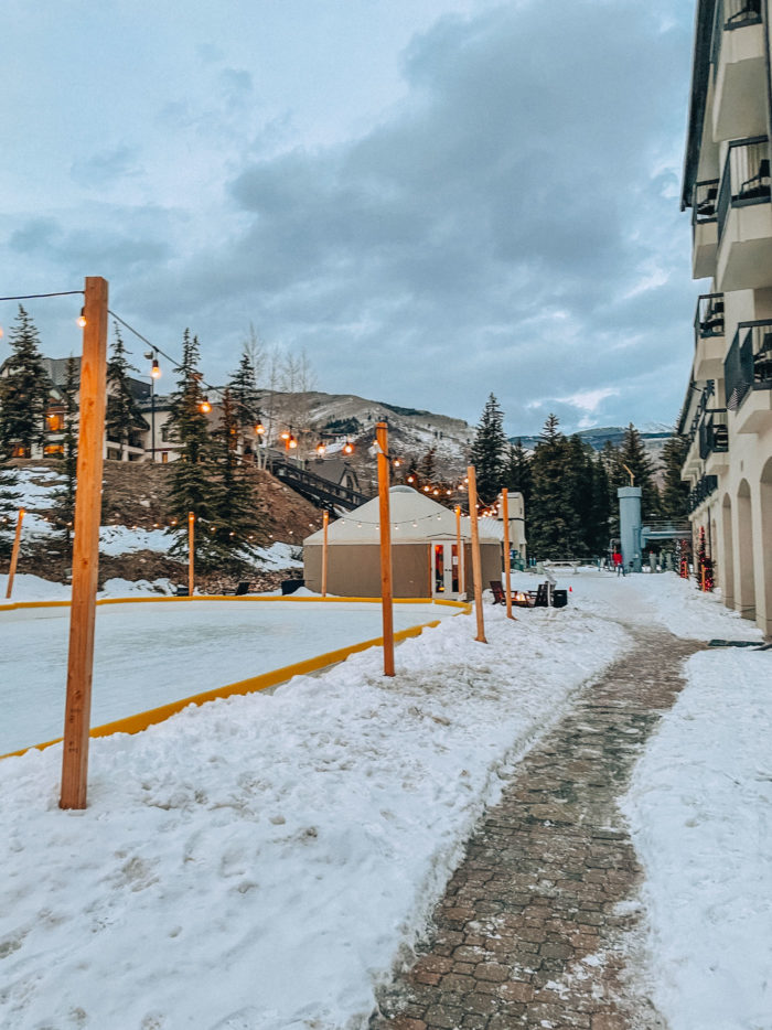Private Fire pits and Ice Skating at Grand Hyatt Vail