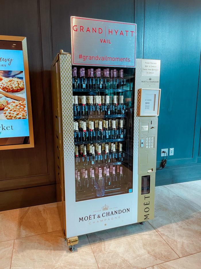 Grand Hyatt Vail Champagne Machine