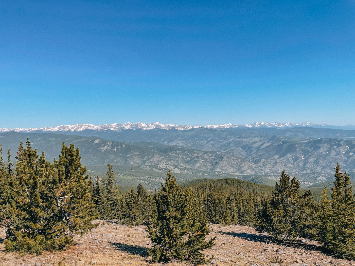 View from the top of Chief Mountain Trail, Evergreen, Colorado