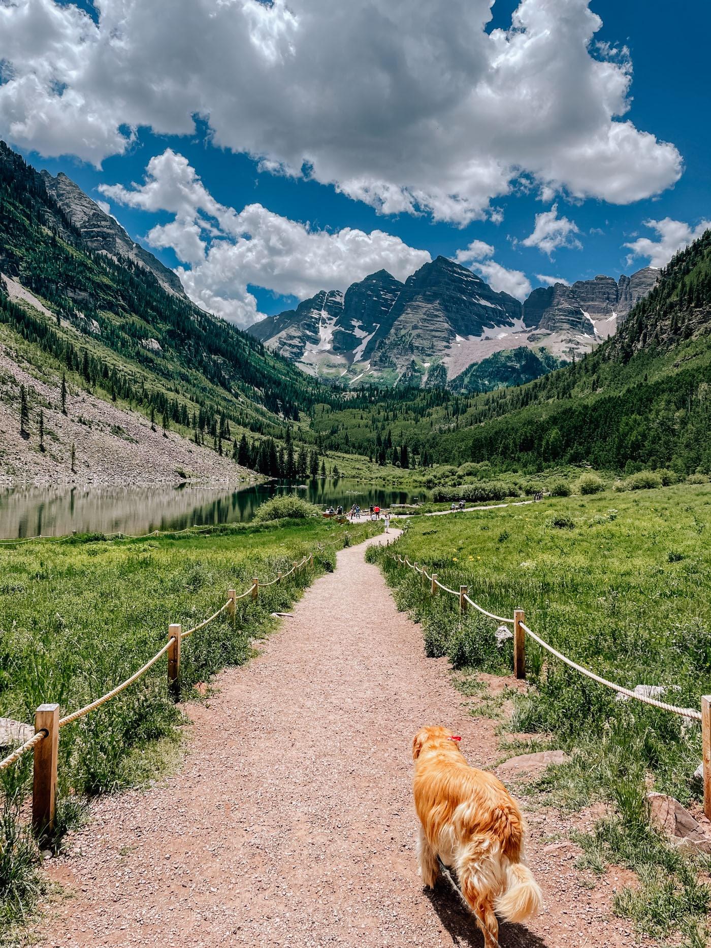 Hiking Maroon Bells outside Aspen, CO